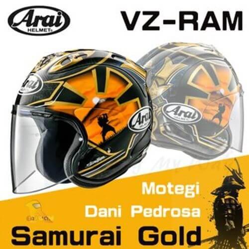 ARAI VZ-RAM黑金 武士 侍 3/4安全帽