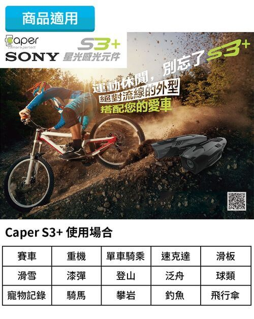 CAPER S3+商品適用場合
